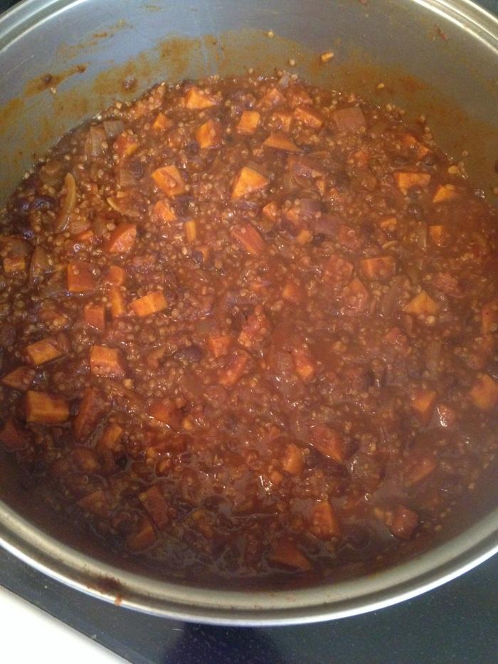 Quinoa/Black bean/Sweet Potato Chili