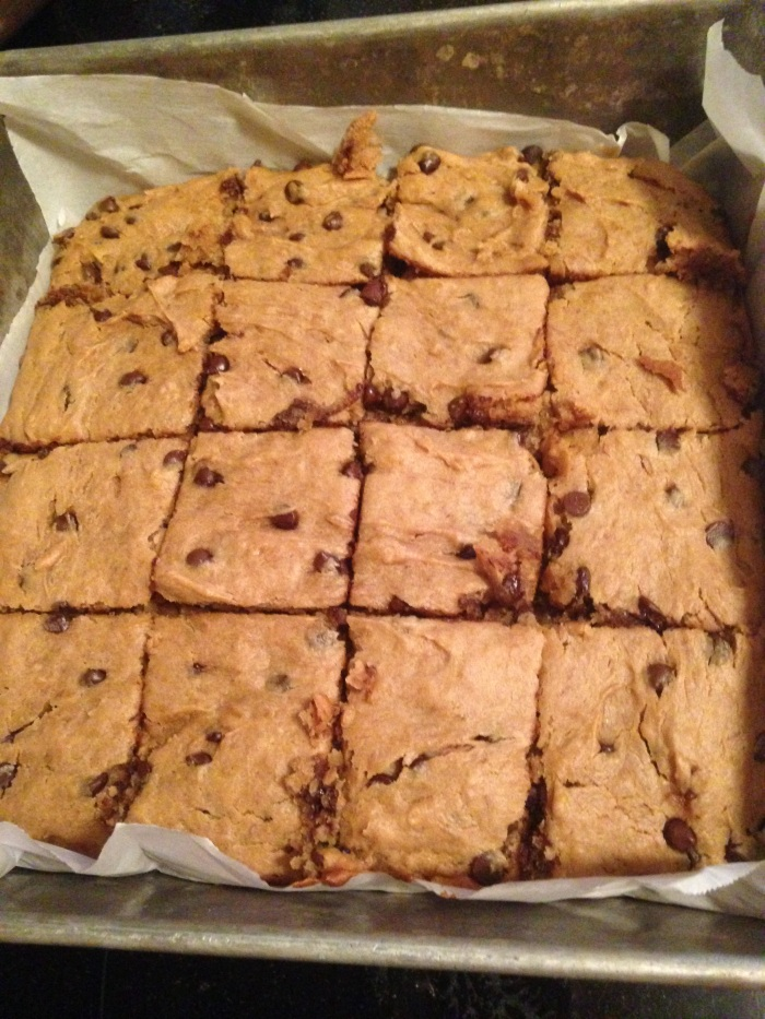 Peanut butter,banana,chocolate chip brownies