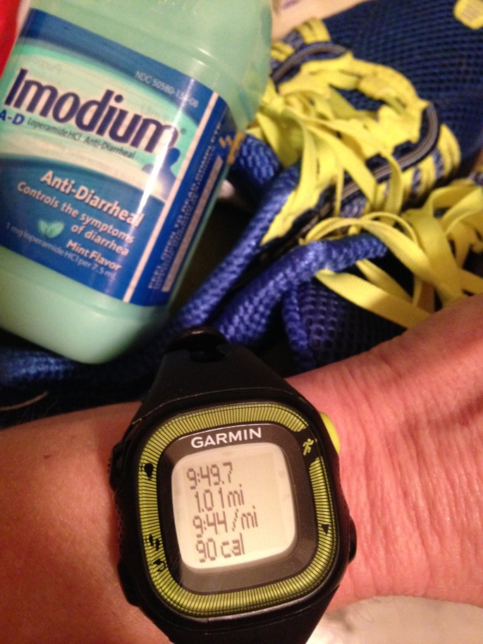 Today's run brought to you by the makers of Imodium AD