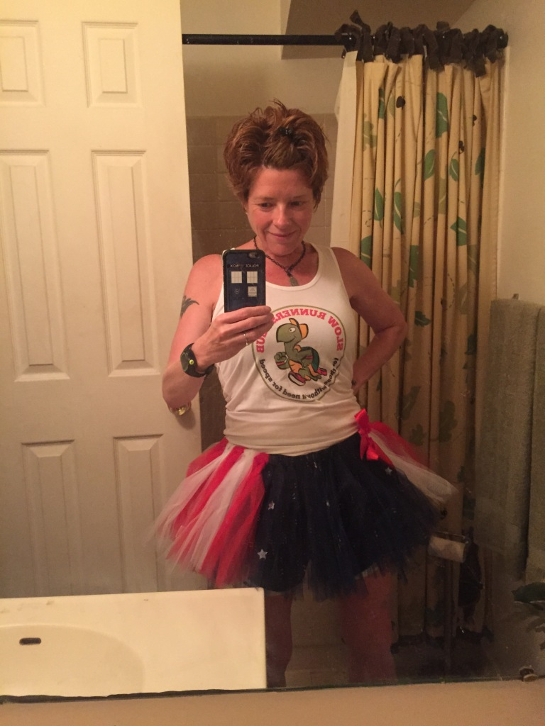 Race day outfit! Except I forgot the tutu at home :(