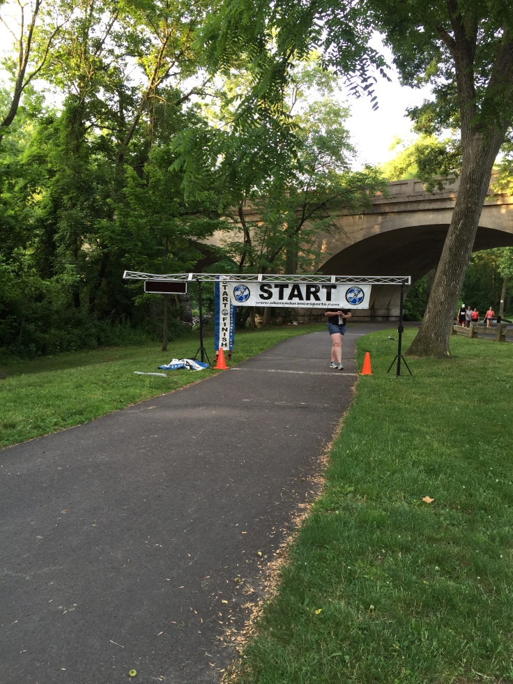 Setting up the START line.