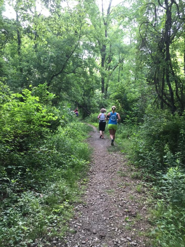 Steep, narrow, gravel trails!