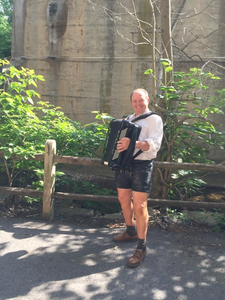 Uber Hans! The ex-pro football accordion player!