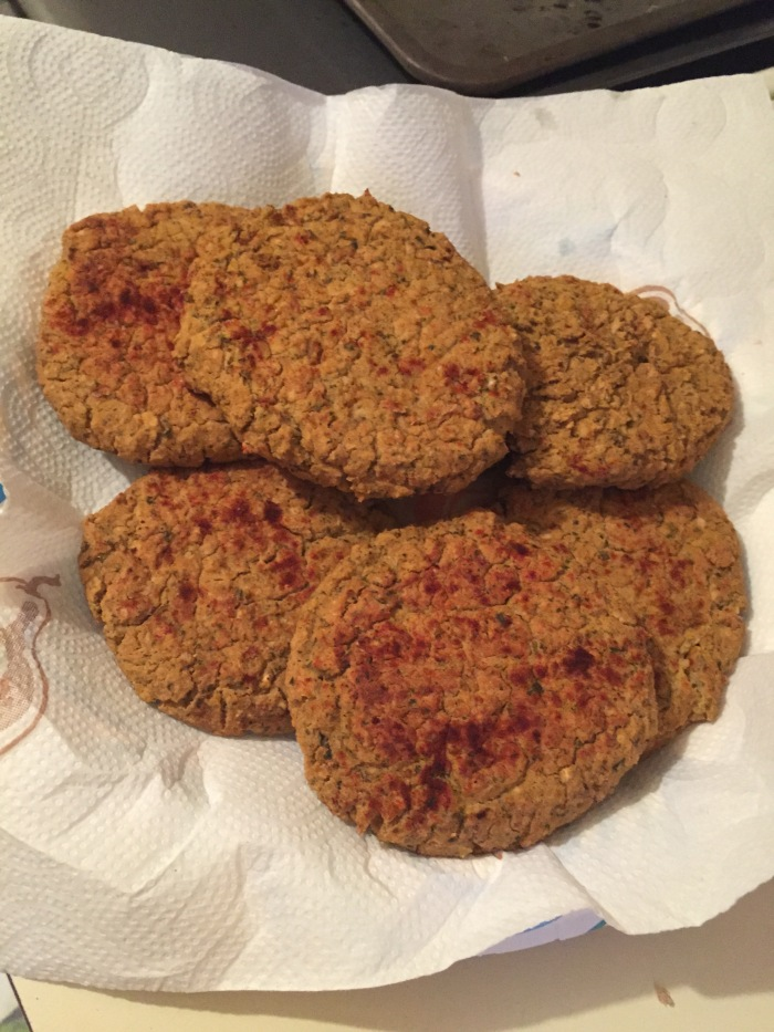 Spicy Baked Falafel Burgers (see my Recipe page for the recipe!)