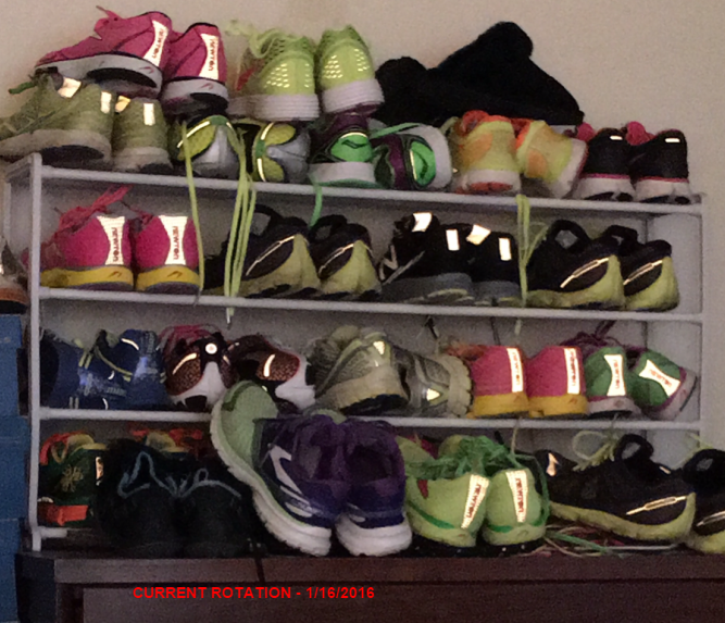Current shoe rotation 1-16-16